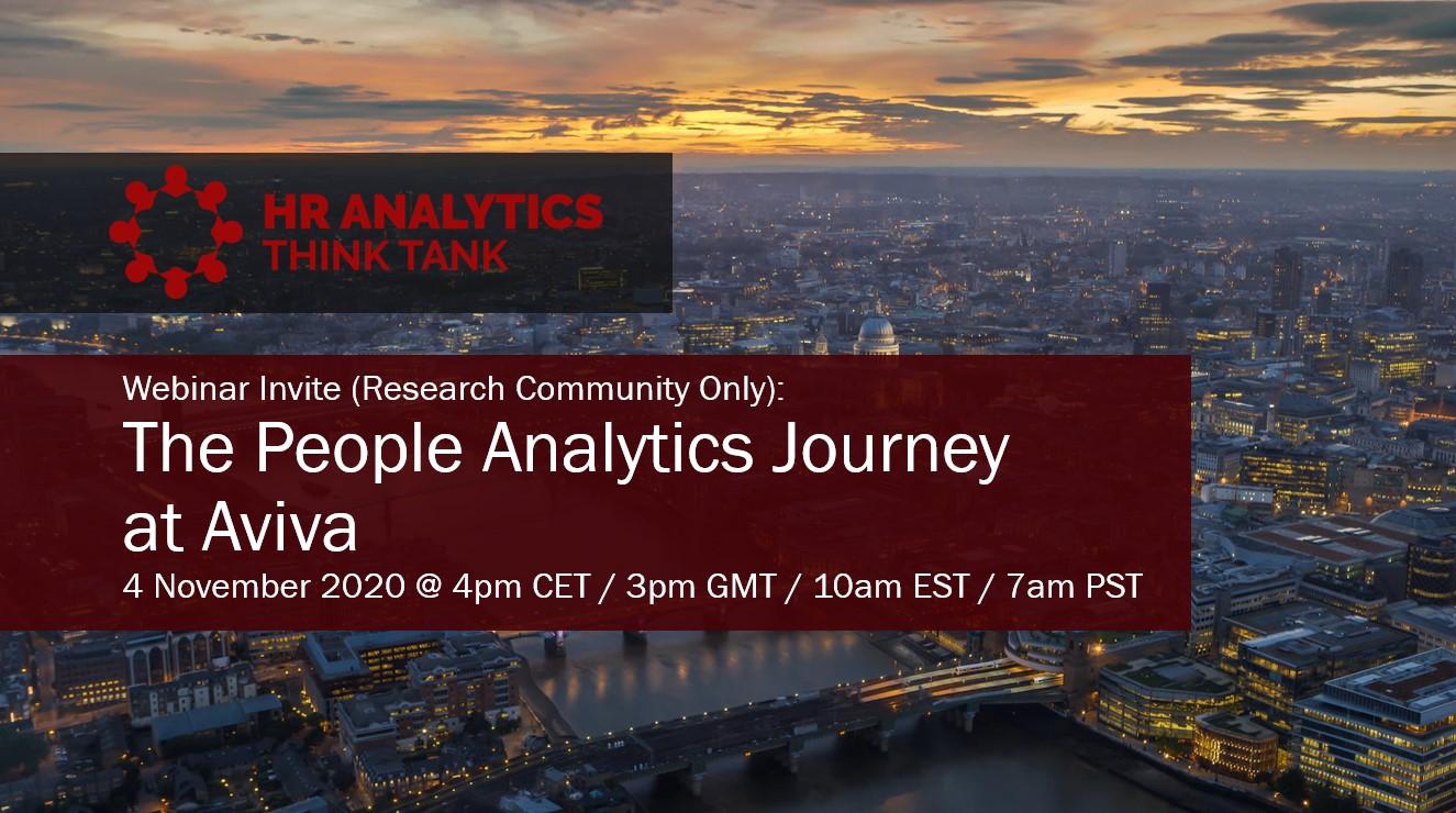 Aviva People Analytics HR Analytics ThinkTank